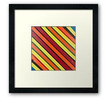 Striped Confession Framed Print