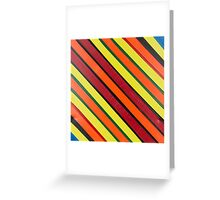 Striped Confession Greeting Card
