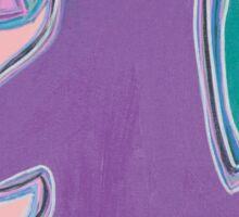 Purple Figure with Flowers Sticker