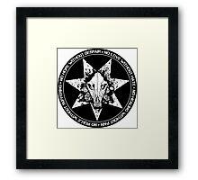 Wolf Skull sticker by Industry Seven Framed Print
