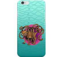 Curvaceous Cat Tail tangled in Yarn  iPhone Case/Skin