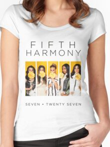 Fifth Harmony 7/27 (Flowers) Women's Fitted Scoop T-Shirt