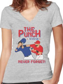 The Punch  Women's Fitted V-Neck T-Shirt