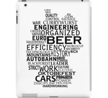 Germany in words (black text) iPad Case/Skin