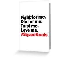 Alexander Hamilton #SquadGoals Greeting Card