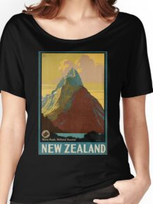 Vintage poster - New Zealand Women's Relaxed Fit T-Shirt