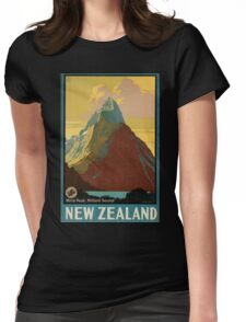 Vintage poster - New Zealand Womens Fitted T-Shirt