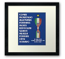 Italy 1934 World Cup Final Winners Framed Print