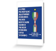 Italy 1934 World Cup Final Winners Greeting Card