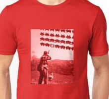 Alien invaders from the past Unisex T-Shirt