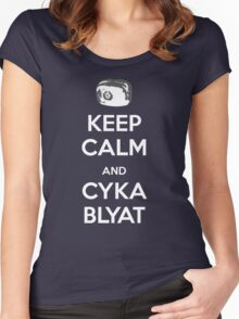 Keep Calm and Cyka Blyat Women's Fitted Scoop T-Shirt