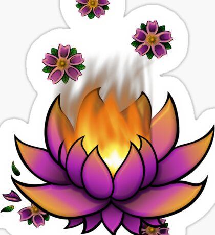 Flaming Lotus Sticker