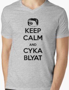 Keep Calm and Cyka Blyat Mens V-Neck T-Shirt