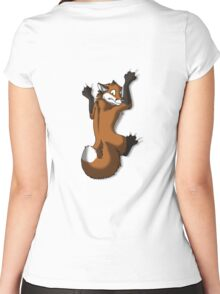 Clinging Red Fox Women's Fitted Scoop T-Shirt