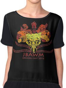 JBAWM Red Flower Chiffon Top
