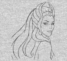 She-Ra Princess of Power (Black Line Art) One Piece - Long Sleeve
