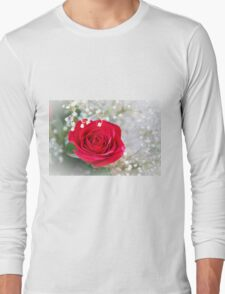 A Single Red Rose Long Sleeve T-Shirt