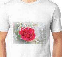 A Single Red Rose Unisex T-Shirt