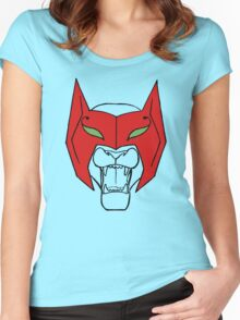 She-Ra Princess of Power - Catra - as Cat with Mask Women's Fitted Scoop T-Shirt