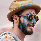 HOLI Indian Color Festival Face! by Heather Friedman