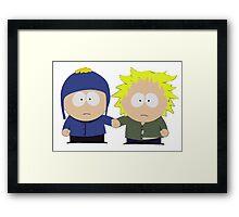 Tweek x Craig (South Park) Framed Print