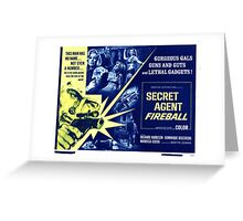 Secret agent fireball Greeting Card