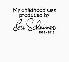 My Childhood was Produced by Lou Scheimer - Black Font Men's Baseball ¾ T-Shirt