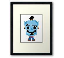 8-Bit Genie Framed Print