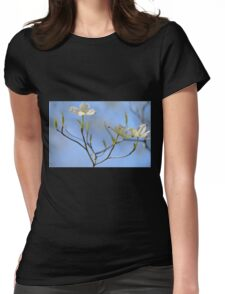 Dogwood Blossoms Womens Fitted T-Shirt