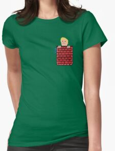 tronald dump wall pocket tee Womens Fitted T-Shirt