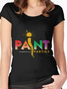 iPaint Parties logo Women's Fitted Scoop T-Shirt