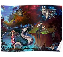 Studio Ghibli Family Poster