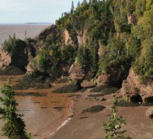 Hopewell Rocks in New Brunswick do Rock Sticker