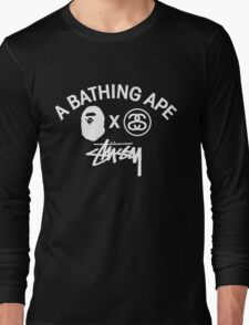 Bathing ape and Stussy!! Long Sleeve T-Shirt