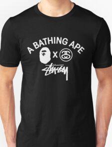 Bathing ape and Stussy!! Unisex T-Shirt
