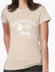 Bathing ape and Stussy!! Womens Fitted T-Shirt