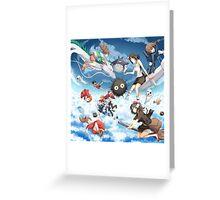 Studio Ghibili Family Greeting Card