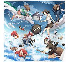 Studio Ghibili Family Poster