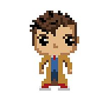 10th Doctor (8-bit) Photographic Print