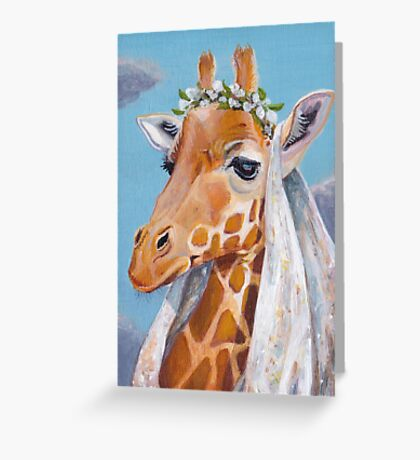Giraffe Maiden Greeting Card