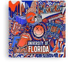 Florida Collage Canvas Print