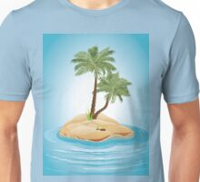 Palm Tree on Island 3 Unisex T-Shirt