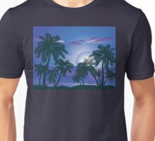 Palm Tree at Night 4 Unisex T-Shirt