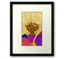 Sleeping With Flowers Framed Print