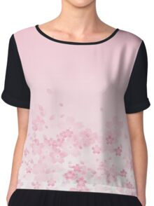 Sakura Subduction - Natural Chiffon Top