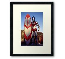 Surf Ultraman 1 Framed Print