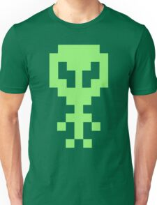 Pixel Space Alien - Light Green Unisex T-Shirt