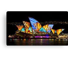 Butterfly Sails - Sydney Vivid Festival - Australia Canvas Print