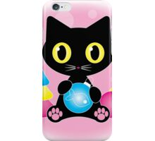 Cute black cat merry Christmas iPhone Case/Skin