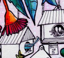 The Birdville Apartments - Kaboom Art Sticker